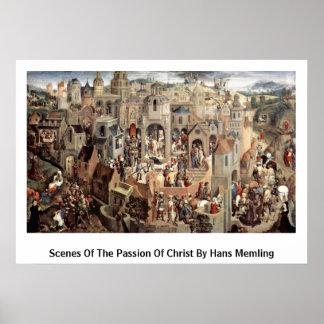 Szenen der Leidenschaft von Christus durch Hans Me Poster