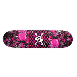 Szenen-Mädchen-Skateboard-Plattform Individuelle Skatedecks