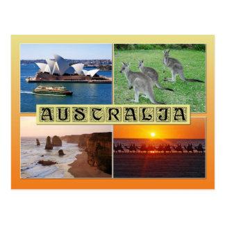 Szenen von Australien Postkarte