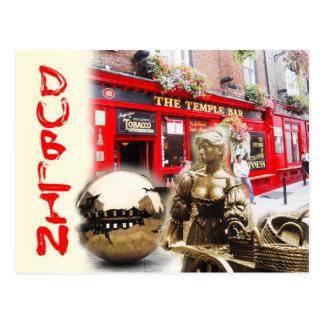 Szenen von Dublin, Irland Postkarte