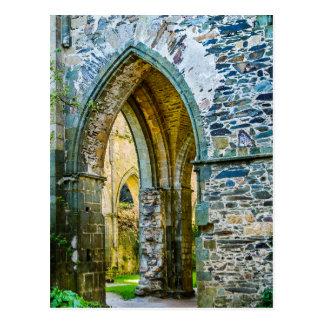 Szenen von einer französischen Abtei Postkarte