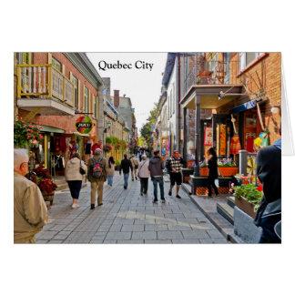 Szenen von Québec-Stadt Karte