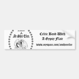 T1WB, keltisches Band mit einem Sinti und Autoaufkleber
