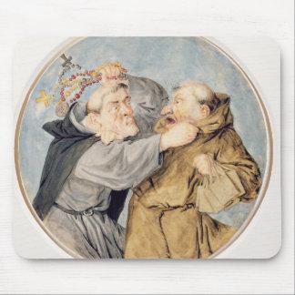 T31130 zwei kämpfende Mönche, 1690 (w/c, Tinte, Mousepad