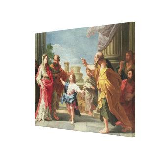 T32126 Christus, der im Tempel predigt Leinwanddrucke