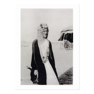 T.E. Lawrence im arabischen Kleid (b/w Foto) Postkarten