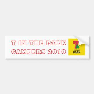T in den Park-Camper-Autoaufklebern Autoaufkleber