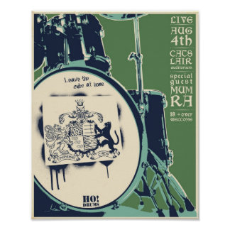 T-Katzen Konzertplakat - Grün Poster