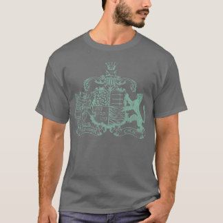 T-Katzen Wappen - aquamarin T-Shirt