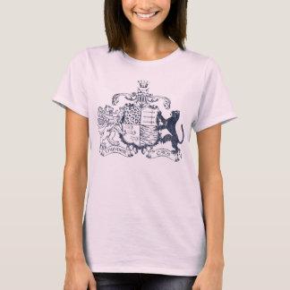 T-Katzen Wappen - Blau - mit Daten T-Shirt