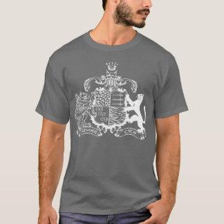 T-Katzen Wappen - Weiß - mit Daten T-Shirt