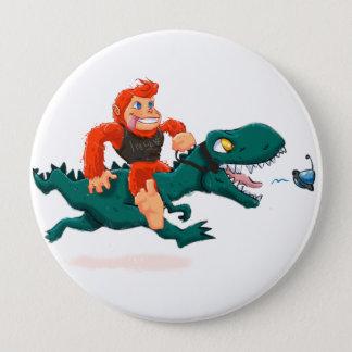 T rex BigfootCartoon t RexCartoon Bigfoot Runder Button 10,2 Cm