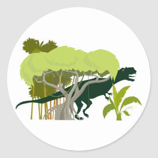 T-Rex Dinosaurier Dino dinosaur Runder Aufkleber