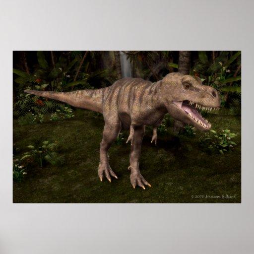 T-Rex Dinosaurier-Plakat