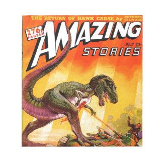 T-Rex gegen Sherman-Behälter Notizblock