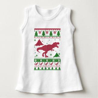 T-Rex hässliches Weihnachten Kleid