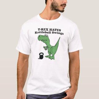 T-Rex hasst Kettlebell Schwingen T-Shirt