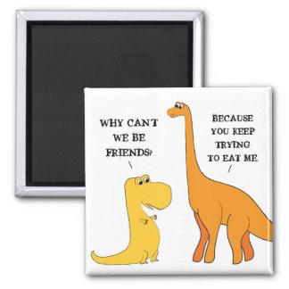 T Rex kann Freund-lustigen Dinosaurier-Magneten Quadratischer Magnet