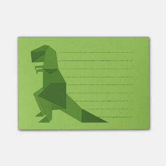 T-Rex origami Post-it Klebezettel