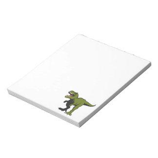T-Rex personalisierte Einzelteile Notizblock