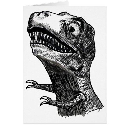 T-Rex Raserei Meme - Gruß-Karte