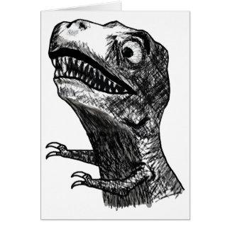 T-Rex Raserei Meme - Gruß-Karte Grußkarte