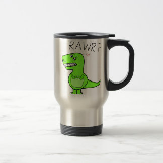 T-Rex Rawr Dinosaurier-Reise-Tassen Edelstahl Thermotasse