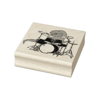 T-Rex Schlagzeuger Gummistempel