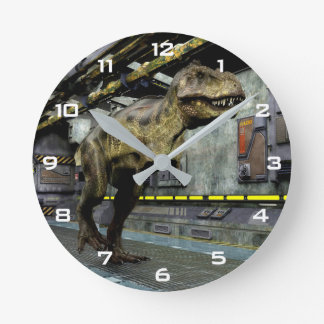 T-Rex Science Fiction-Wand-Uhr Runde Wanduhr