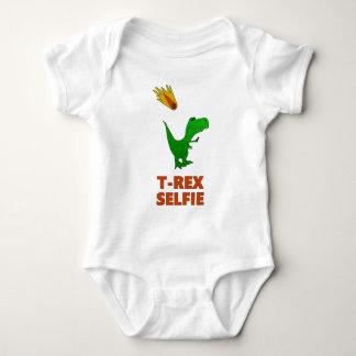 T-Rex Selfie Dinosaurier Baby Strampler