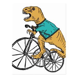T-Rex Tri Rad Postkarte