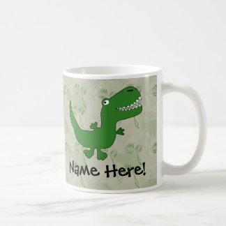 T-Rex Tyrannosaurus Rex Dinosaurier-Cartoon Tasse