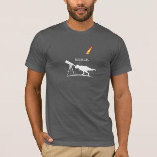 T-Rex war ein schrecklicher sternartiger Jäger T-Shirt