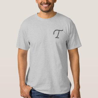 """""""T-"""" Seil-Alphabet 2,5"""" Besticktes T-Shirt"""
