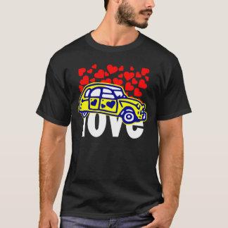 t-shirt 2CV coeur