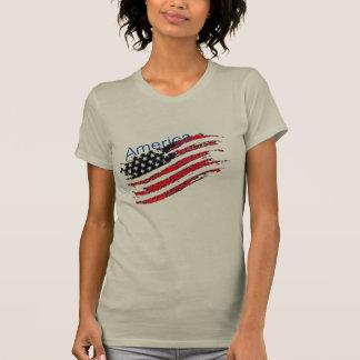 T - Shirt Amerikas USA US-Flaggensternstreifen