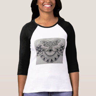 T - shirt ärmel langes Skull' Sphinx