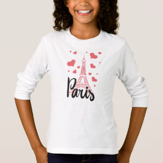 T - shirt Basic A Manches langes Mädchen Paris