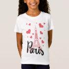 T - shirt Basic Mädchen Paris