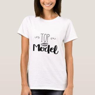 """T-shirt BASIC weißes für Frau """"Top Model """""""