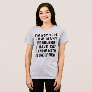 T - Shirt bin ich nicht sicher, wieviele Probleme