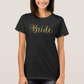 T - Shirt - Braut golden
