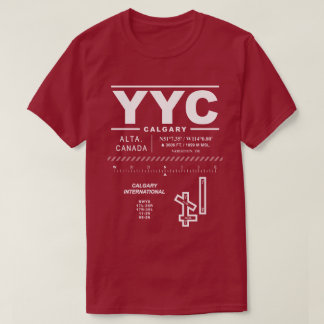 T - Shirt Calgarys internationalen Flughafen-YYC
