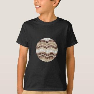 T - Shirt der beige Mosaik-Kinder Baumwoll