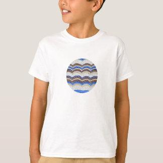 T - Shirt der blaue Mosaik-Kinder Baumwoll