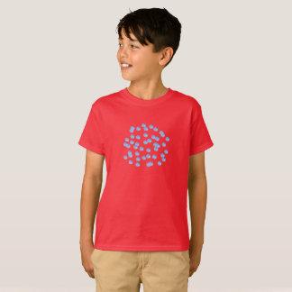T - Shirt der blaue Polka-Punkt-Kinder Baumwoll