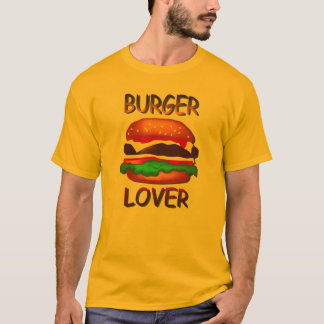 T - Shirt der Burger-Liebhaber-Hamburger-Männer