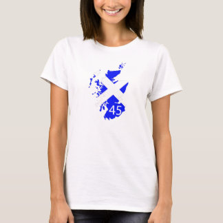 T-Shirt der Damen Schottland 45