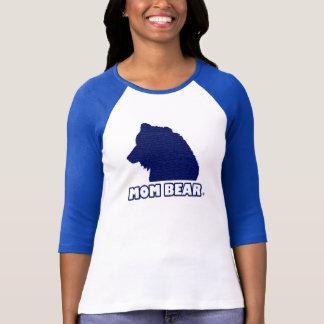 T - Shirt der Mamma-Bärn-der Blau-Gemusterte