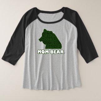T - Shirt der Mamma-Bärn-der Grün-Gemusterte